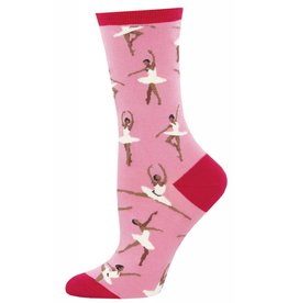Socksmith Socksmith - Ballet People - Dusty Pink - WNC894 - Crew - Women's