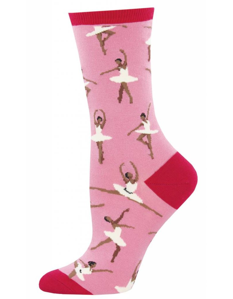 Socksmith Socksmith - Ballet People - Dusty Pink - WNC894 - Crew - Women's