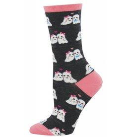 Socksmith Socksmith - Love You Boo - Charcoal Heather - WNC908 - Crew - Women's