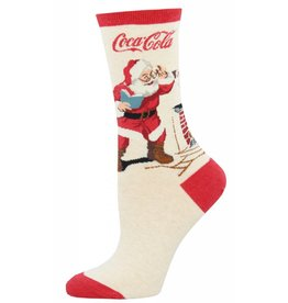 Socksmith Socksmith - Classic Coke Santa - Ivory Heather - WNC1555 - Crew - Women's
