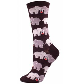 Socksmith Socksmith - Elephant Love - Black - SSW1302 - Crew - Women's