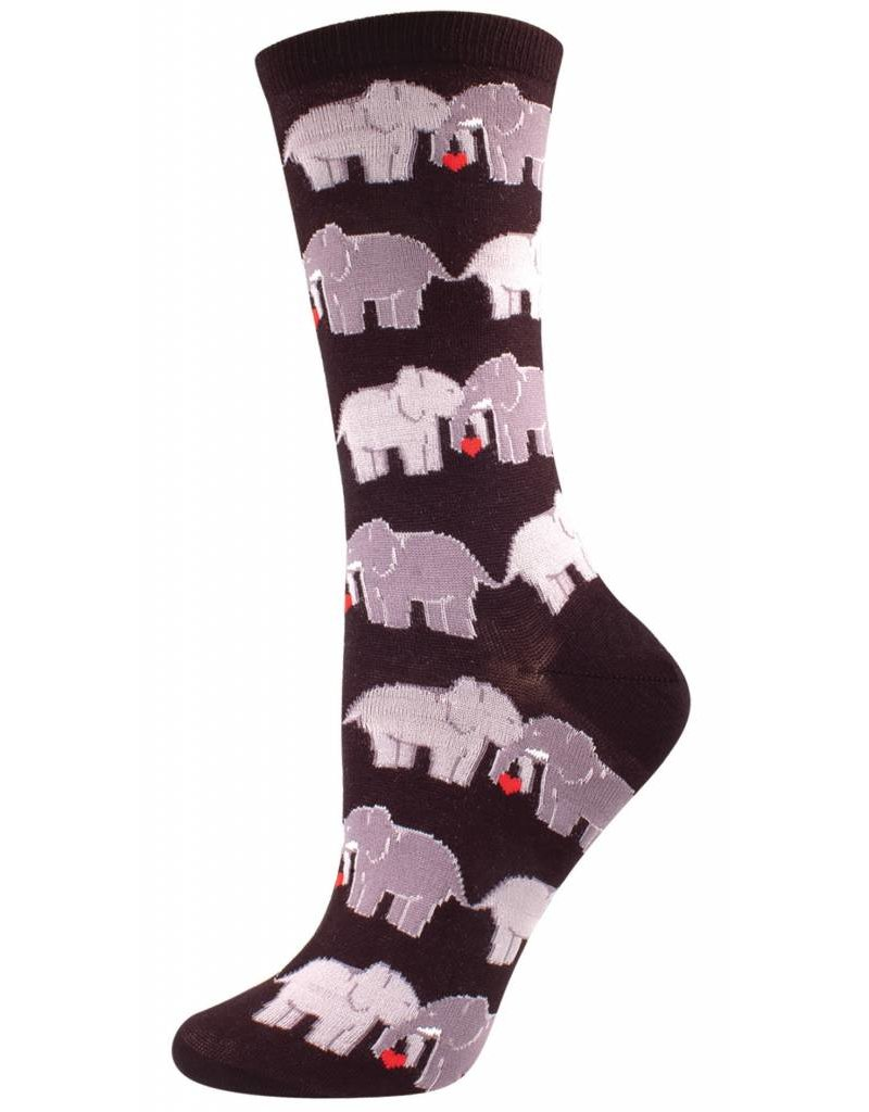 Socksmith Socksmith - Elephant Love - Black - SSW1302 - Crew - Women's