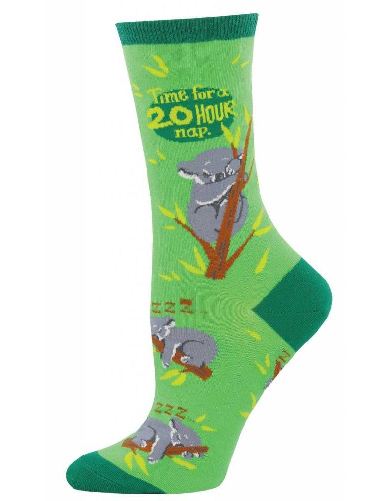 Socksmith Socksmith - Koalaty Time - Grass - WNC882 - Crew - Women's