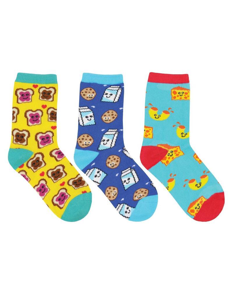 Socksmith Socksmith - BFF (Best Foods Forever) - 3-Pack - Crew - Kids