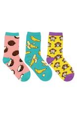 Socksmith Socksmith - Spunky Monkey - 3-Pack - Crew - Kids