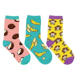 Socksmith Socksmith - Spunky Monkey - 3-Pack - Crew - Kids