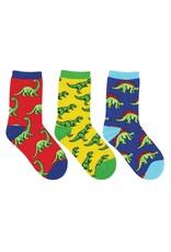 Socksmith Socksmith - Dino-Mite! - 3-Pack - Crew - Kids