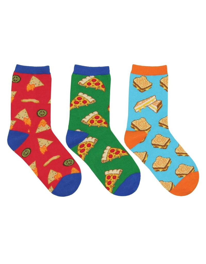 Socksmith Socksmith - A Little Cheesy - 3-Pack - Crew - Kids