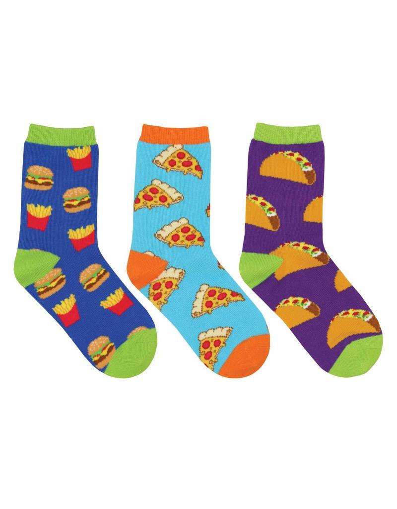 Socksmith Socksmith - Yummy In My Tummy - 3-Pack - Crew - Kids