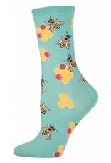 Socksmith Socksmith - Busy Bees - Seafoam - WNC428 - Crew - Women's