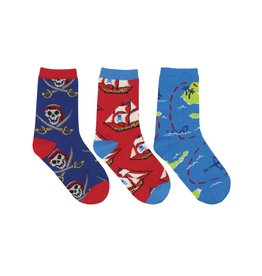 Socksmith Socksmith - A Pirate's Life - 3-Pack - Crew - Kids