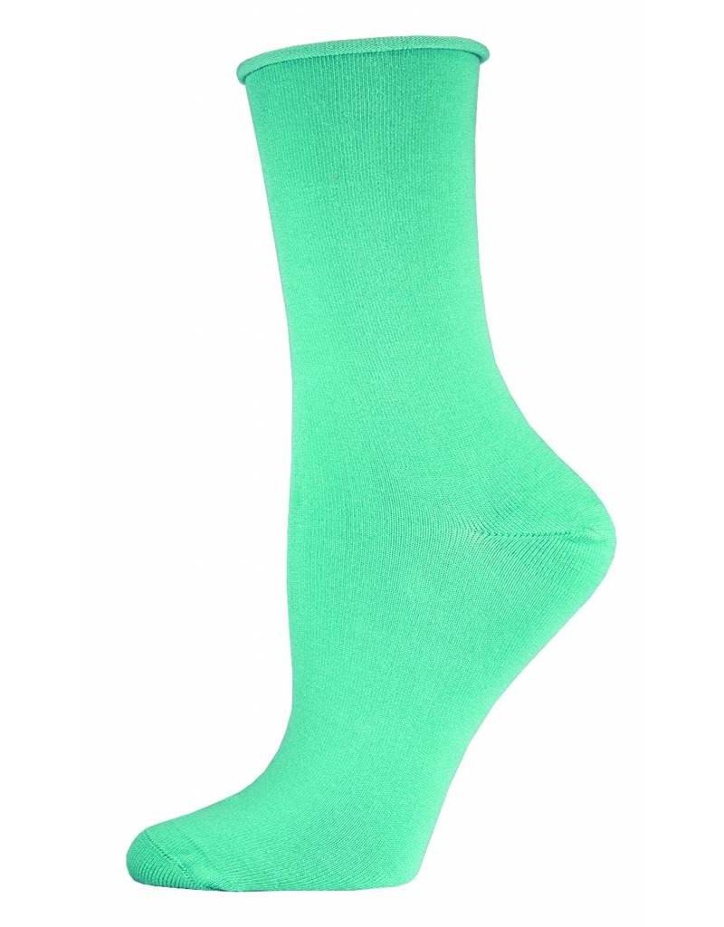 Socksmith Socksmith - Bamboo Comfort Solid - Mist - WBC1 - Crew - Women's