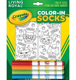 Living Royal Living Royal - Cat Vibes - Color-In Socks - 116CIS - Crew
