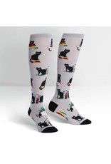 Sock It to Me Sock It to Me - Booked for Meow - F0425 - Knee High - Women's