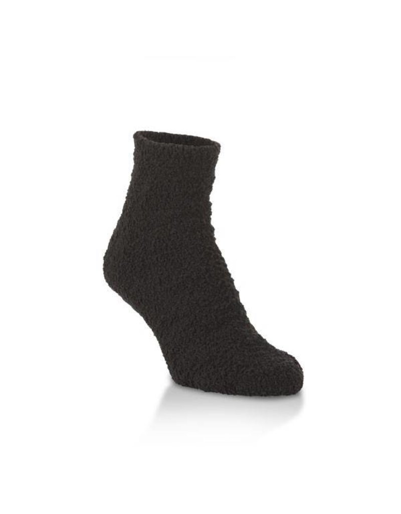 World's Softest World's Softest - Cozy Quarter with Grippers - W2441 - Black