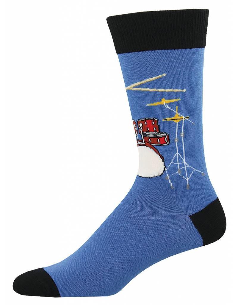 Socksmith Socksmith - Drum Solo - Blue Fog - MNC598 - Crew - Men's