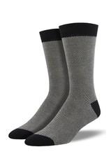 Socksmith Socksmith - Bamboo Herringbone - Black - MBN1574 - Crew - Men's