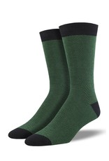 Socksmith Socksmith - Bamboo Herringbone - Green - MBN1574 - Crew - Men's