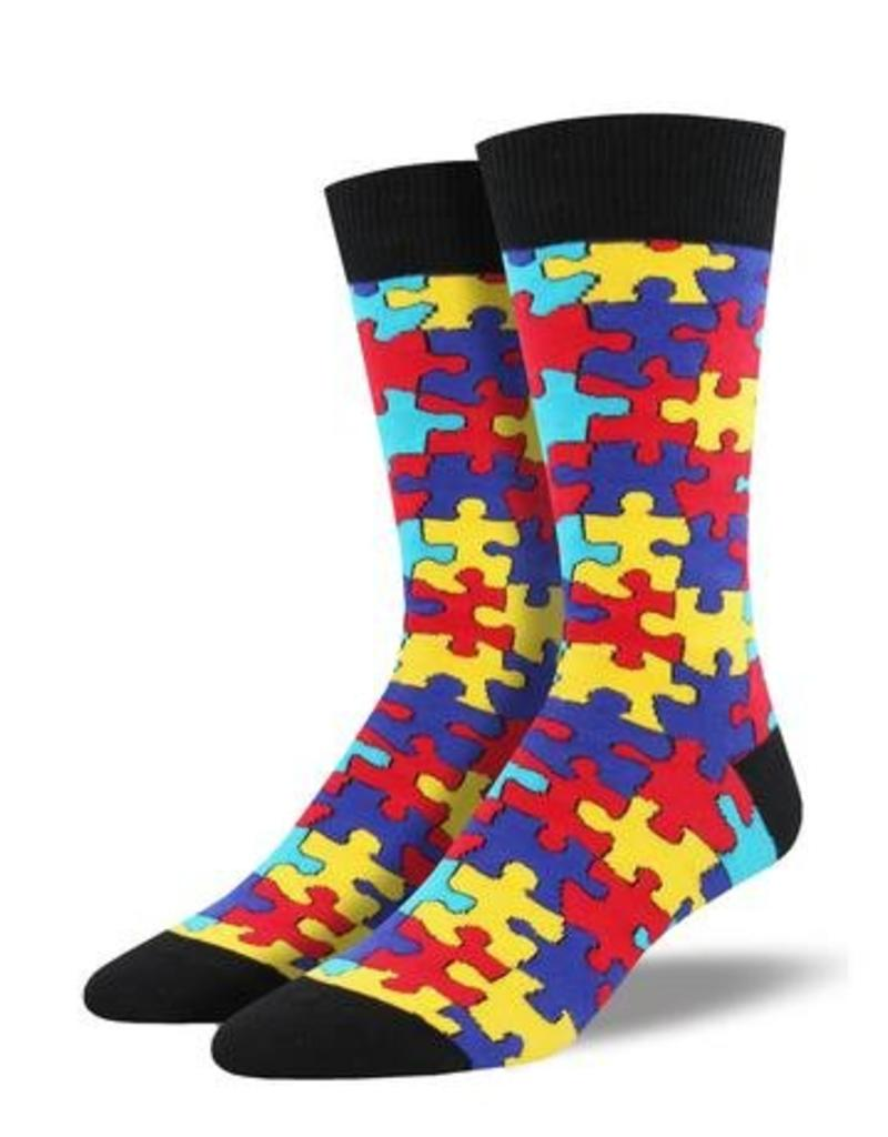 Socksmith Socksmith - Puzzled - Multi - MNC1640 - Crew - Men's