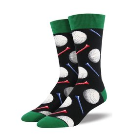 Socksmith Socksmith - Tee It Up - Black - MNC1636 - Crew - Men's
