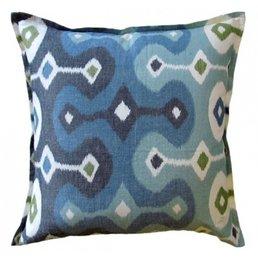 "Ryan Studio Darya Sky Pillow- Linen 22""sq."
