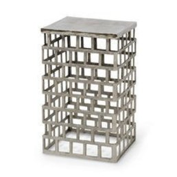 Palecek Emmet Side Table Silver