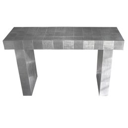 Global Views Hand-Pressed Metal Console