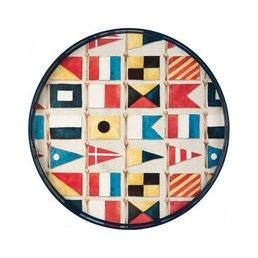 "Rockflowerpaper Nautical Flags Tray 18""sq."