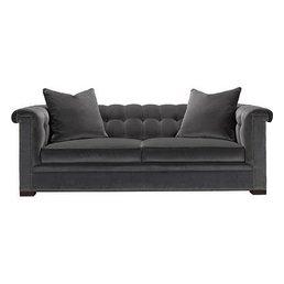 Hickory Chair Kent Sofa w/Nailheads & Bench Cushion