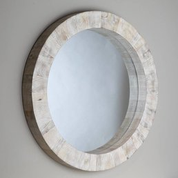 Global Views Driftwood Round Mirror