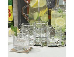 Global Views Honeycomb Double Old Fashioned Glasses