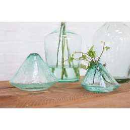 Accent Decor Pyramid Vase- Small