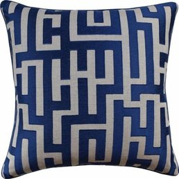 """Ryan Studio Chic Geo Indigo Pillow 22""""x22"""""""
