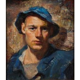 Vintage Self Portrait Oil- John Hatch 1942