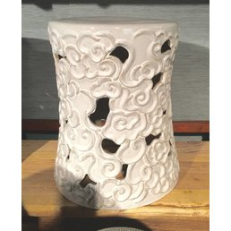 The Van Cleve Collection Cloud Ceramic Stool- White