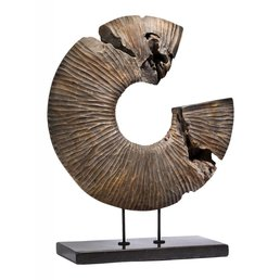 Interlude Terra Abstract Round Sculpture