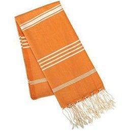 Rockflowerpaper Fouta Orange Cotton Towel/Throw