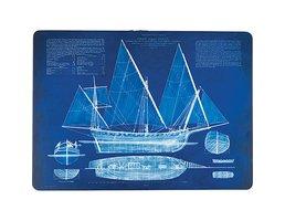 Blueprint Ship Placemats S/4