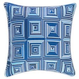 "Dash & Albert Geo Blue Indoor/Outdoor 22"" Pillow"