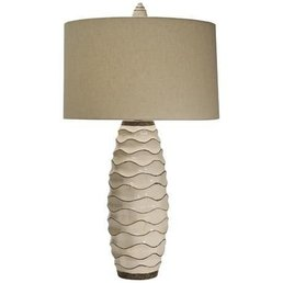 The Natural Light Ebbtide Lamp w/Linen Shade