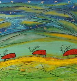 Alan Syliboy Alan Syliboy - Caribou under starry sky