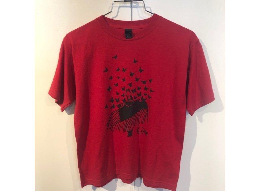 Eruoma Awashish - T-shirt/Red-Papillons-L