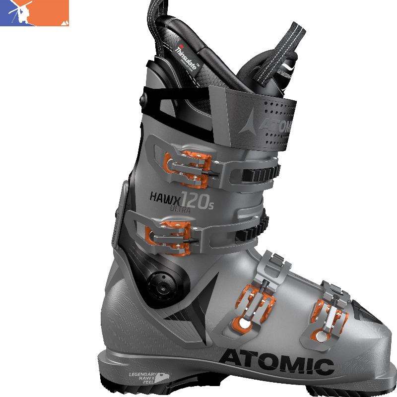 brand new 635da 3ff25 ATOMIC Hawx Ultra 120 S Ski Boot 2019/2020 Anthracite/Black/Orange