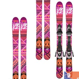 K2 K2 Luv Bug Girl's Skis with 4.5 Binding 2015/2016 - 76