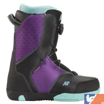 K2 K2 Kat Girl's Snowboard Boots 2015/2016 - 7.0 - Black