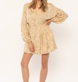 Amuse Society AMUSE SOCIETY LUCIANA LONG SLEEVE WOVEN DRESS
