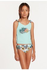 Volcom Inc. VOLCOM YTH WAVE BACK TANKINI SET SEA