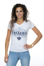 TTA Clothing Women's Tri-Blend V Neck T-shirt