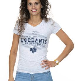 TTA Clothing T-shirt Col V tri-blend pour femme