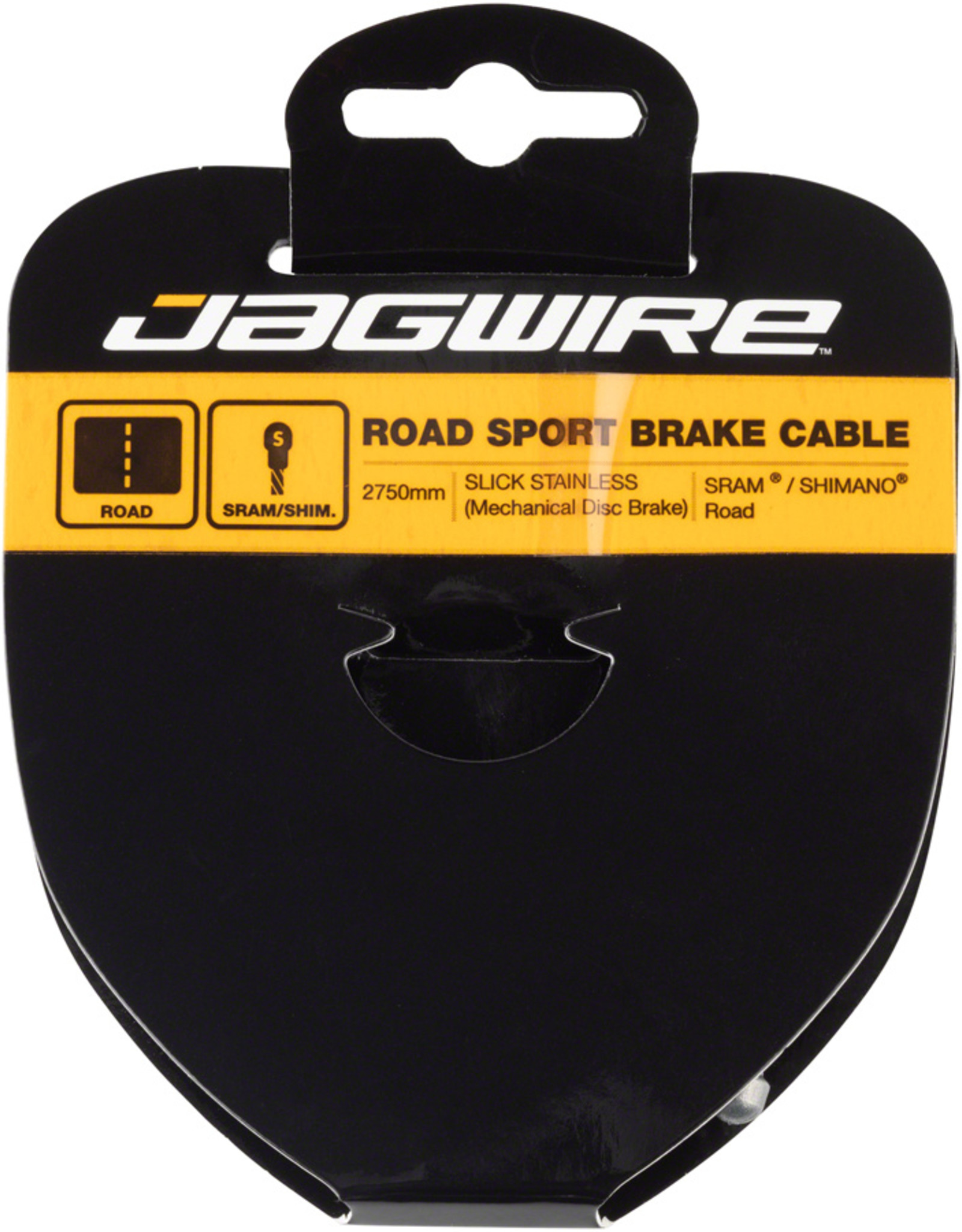 Jagwire Sport Brake Cable Slick Stainless 1.5x2750mm SRAM/Shimano Road Tandem